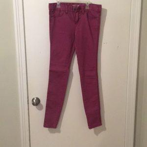 magenta free people jeans